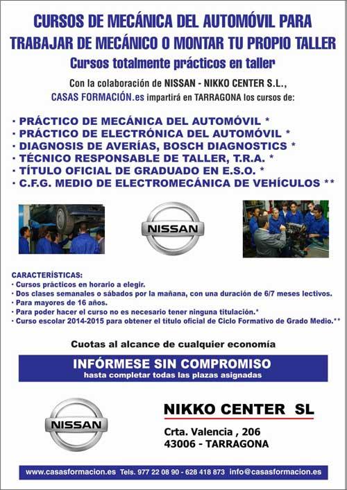 Cursos de mecánica del automóvil en TARRAGONA