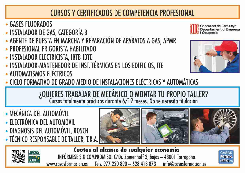 Cursos y certificados de competencia Profesional